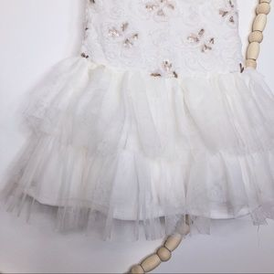 Dresses - GIRL'S SEQUENCE AND RUFFLES WHITE DRESS